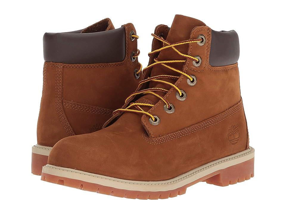 7151d1375d3c Timberland Kids 6 Premium Waterproof Boot Core (Big Kid) (Rust Nubuck with  Honey