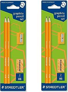 2x Staedtler Wopex neón Kit de lápices de grafito 180fsbk2p2–Color Naranja–Set de 2
