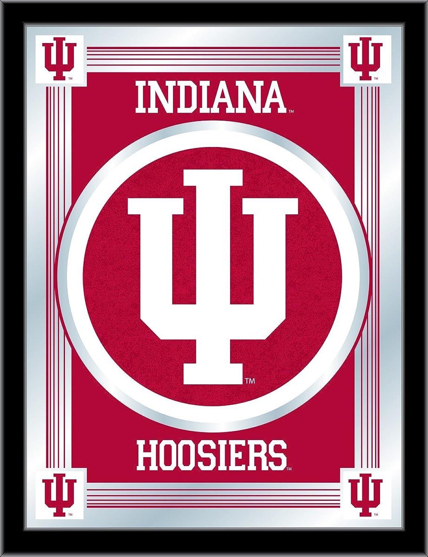 Holland Bar Stool NCAA Indiana Hoosiers Logo Mirror, 17 X 22-Inch