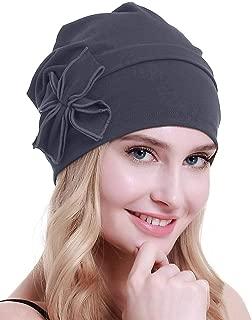 Cotton Chemo Turbans Headwear Beanie Hat Cap for Women Cancer Patient Hairloss