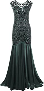 black and green long dress