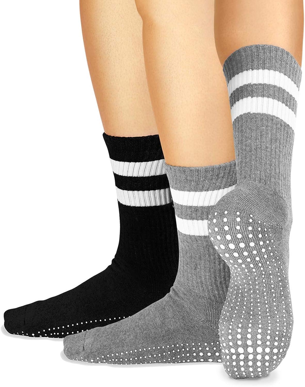 LA Active Limited time sale Grip Socks - Cozy Crew for Warm Slip Home Max 89% OFF Non