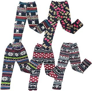 The Elixir 5-Pack Girls Baby Toddler Infant Leggings Full Length Warm Pants 12-24 Months