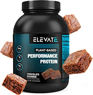 Plant Based Vegan Protein Powder with High BCAAs and Glutamine, Low Carb Protein Powder Chocolate Brownie, Non GMO, NO Sug...