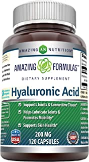 Amazing Formulas Hyaluronic Acid 200 mg 120 Capsules (Non-GMO) - Support Healthy Connective Tissue and Joints - Promote Yo...