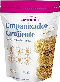 Morama, Empanizador crujiente vegano hecho con maíz, arroz y garbanzo, baja en sodio y con terminación crujiente, 350 gramos