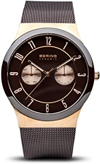 BERING Time 32139-265 Ceramic Collection Watch with Mesh Band and Scratch Resistant Sapphire Crystal