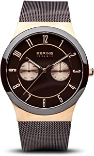 Time 32139-265 Ceramic Collection Watch with Mesh Band and Scratch Resistant Sapphire Crystal. Designed in Denmark.