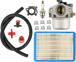 MOTOKU Carburetor Air Filter Spark Plug Primer Bulb for Briggs Stratton 799866 790845 799871 796707 794304 12H800 Engine Toro Craftsman Lawn Mower Carb Toro 22