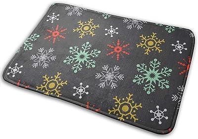 Winter Snowflakes Multi Carpet Non-Slip Welcome Front Doormat Entryway Carpet Washable Outdoor Indoor Mat Room Rug 15.7 X 23.6 inch