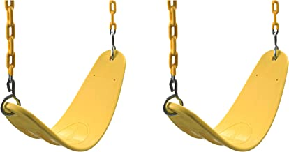 Swing-N-Slide Extreme Heavy Duty Swing Seat Set Outdoor Playground Swings with Coated Chains & Quick Links, Yellow, Pack of 2