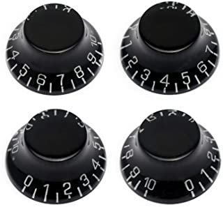 Metallor Electric Guitar Top Hat Knobs Speed Volume Tone Control Knobs Compatible with Les Paul LP Style Electric Guitar P...