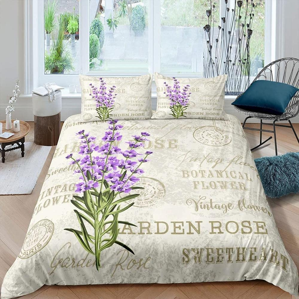 Duvet Cover King Size Sales 140x90 Micr Lavender New products world's highest quality popular Comfortable Inch Soft