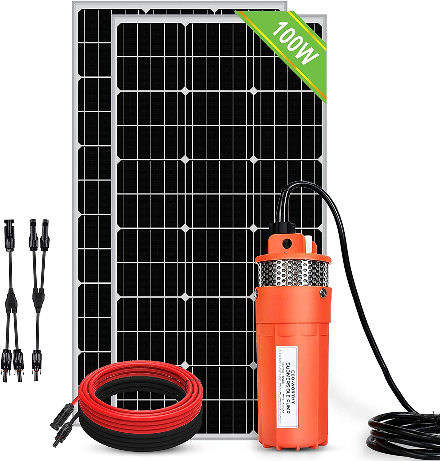 ECO-WORTHY Complete Free Shipping 200W Solar Deep Well Submersible 1.6GPM Flow Phoenix Mall Pump Kit