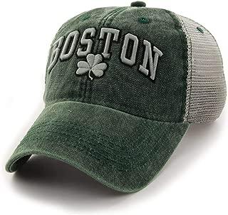 Chowdaheadz Boston Shamrock Cobblestone Mesh Trucker Green Hat