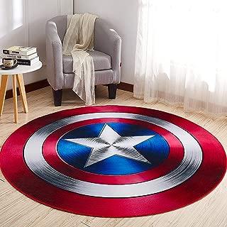 Aoile Round Floor Rug, Non Slip Cartoon Printing Children Play Carpet Crawling Carpet for Bedroom Living Room Sofa Round 2 80cm