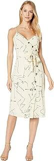 Women's Lois Sleeveless Wrap Top Midi Sheath Dress