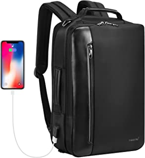 Fintie Convertible Backpack, Flight Approved Carry-On Luggage Shoulder Briefcase Messenger Bag Water Resistant Rucksack with USB Port for Travel Business College Outdoor fits 15.6 inch Laptop