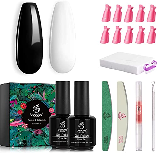 lowest Beetles 2 Pcs 15ml Black Gel Nail Polish Kit outlet sale with Gel Nail Polish Remover new arrival Kit outlet sale