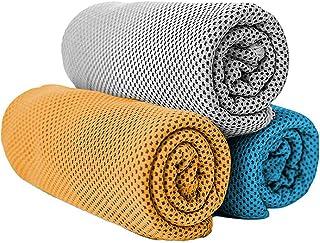 スポーツタオル ひんやり超吸水運動速乾タオル 瞬間冷却 速冷アイスタオル 汗吸収 熱中症対策,3枚セット