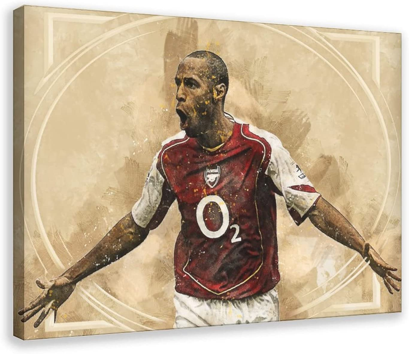 Thierry Henry Football Star Player Art 20 Poster Sale price Sports Portrait online shopping