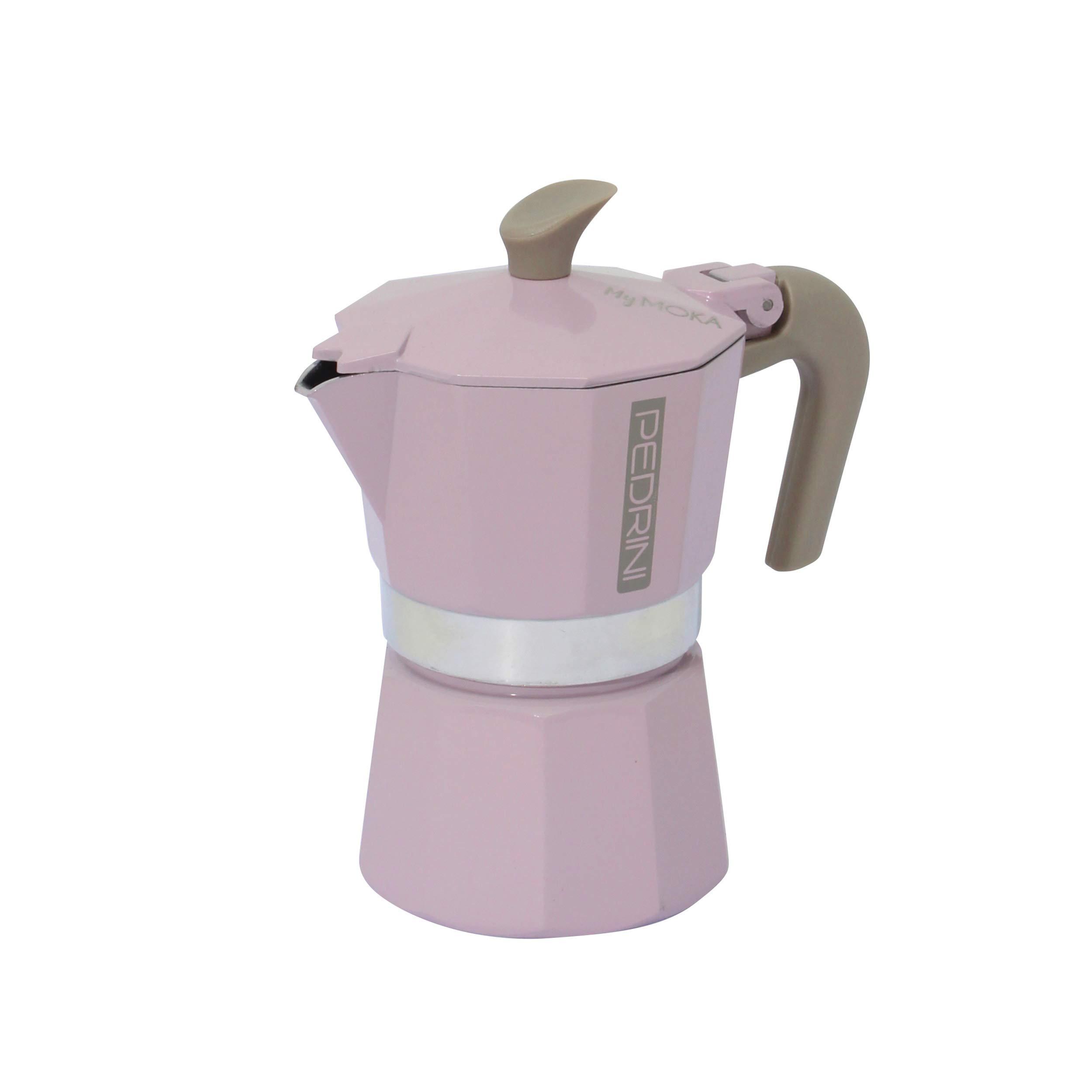 Pedrini Mymoka - Cafetera de aluminio 6 tazze Powder Pink: Amazon ...