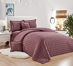 Compressed two-sided Comforter 4 Pieces Set, Single Size,Light Purple