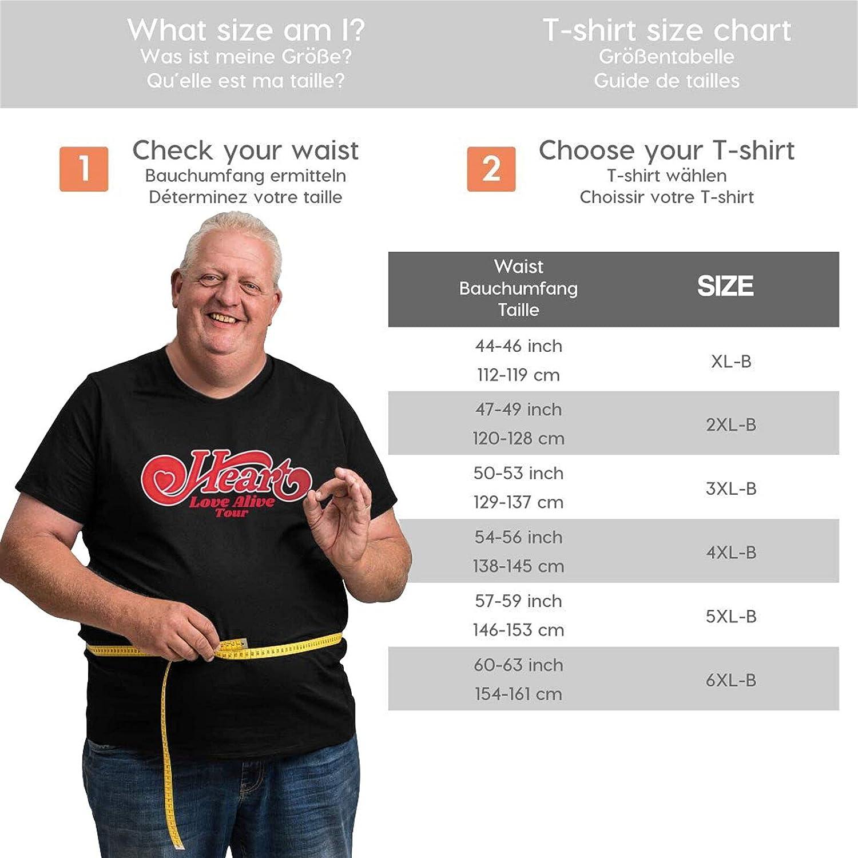 Heart Rock Band Men's Shirt Casual Short Sleeve Plus Size Cotton Tops