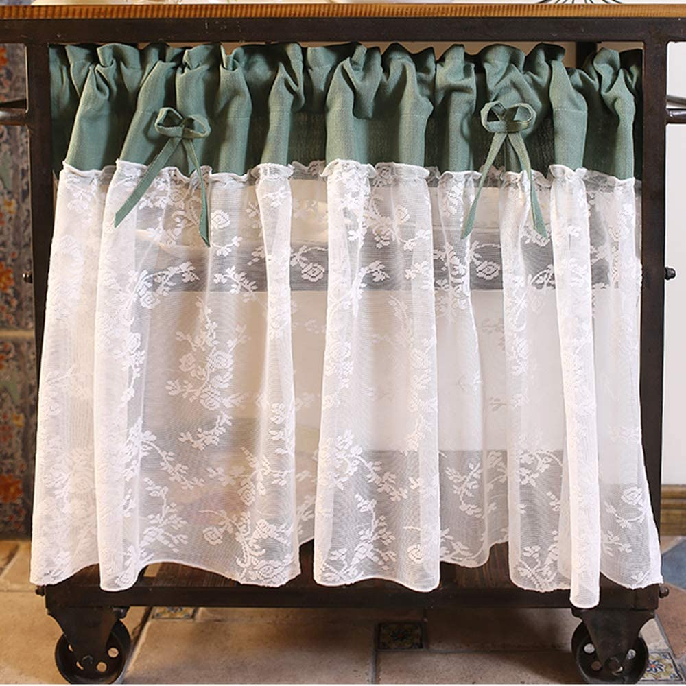 MANG Lace Curtains Weekly update for San Diego Mall Kitchen Sem Tier Bowknot Windows