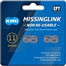 KMC Unisex 11 Speed EPT MissingLink Joining Link, Donker Zilver, 2 paar