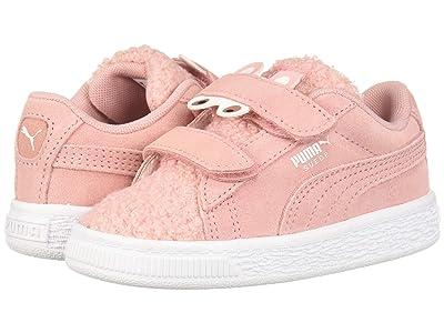 Puma Kids Suede Winter Monster V (Toddler) (Bridal Rose/Mocha Mousse) Girls Shoes