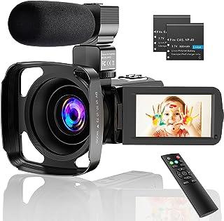 CamVeo 2.7K Video Camera Camcorder, Vlogging Camera met 16X krachtige zoom en 36 Mega pixels IR Nachtzicht Digitaal, Camer...
