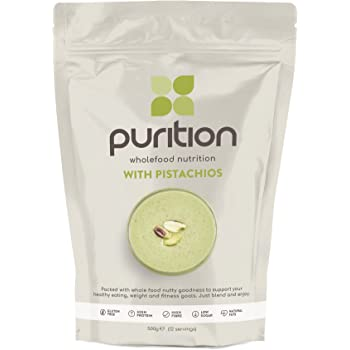 Purition Pistachio Natural Protein Powder for Keto Diet Shakes and Meal Replacements Shakes, 1 Bag (12 Serving)
