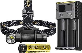 Hoofd Torch Draagbare Koplamp XHP35 HD LED max 1800 lumen beam gooien 187 meter koplamp 8 werkmodi outdoor hoofd licht (Em...