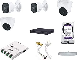 DAHUA Full HD 2MP Cameras Combo KIT 4CH HD DVR+ 2 Bullet Cameras + 2 Dome Cameras+1TB Hard DISC+ Wire ROLL +Supply & All R...