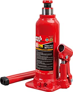 BIG RED T90803B Torin Hydraulic Welded Bottle Jack, 8 Ton (16,000 lb) Capacity, Red