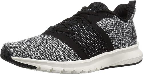 Reebok Wohommes Print Lite Rush Running chaussures, noir Chalk blanc, 6.5 M US
