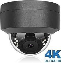 (Hikvision Compatible) Anpviz 4K 8MP POE IP Security Dome Camera Indoor Outdoor, Wide Angle 3.6mm, 98ft, IP66 Weatherproof Onvif Compliant, Grey