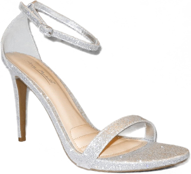 Anne Michelle Enzo 01N Women's Ankle Strap Sandals