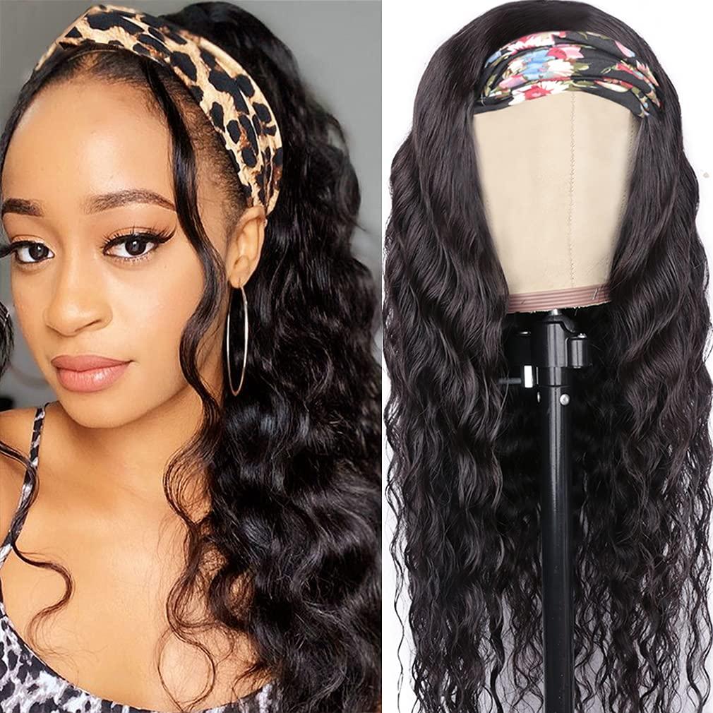 Goldfinch Loose Deep Wave Headband Wig 2021new shipping free shipping Hair 24Inch Human Headban Las Vegas Mall
