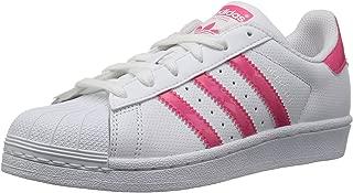 adidas Originals Unisex-Kids Superstar J, White/Real Pink/White, 6.5 M US Big Kid
