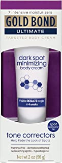 Gold Bond Dark Spot Minimizing Body Cream, 2 Ounce, Moisturizes and Exfoliates Skin to Help Minimize the Appearance of Age and Sun-Damage Dark Spots on Hands, Arms, Neck, and Chest