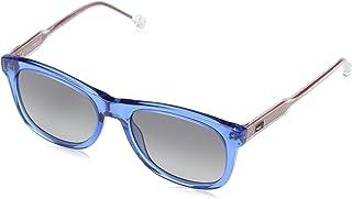 tommy hilfiger th1501s rectangular anteojos de sol, color azul, 49mm