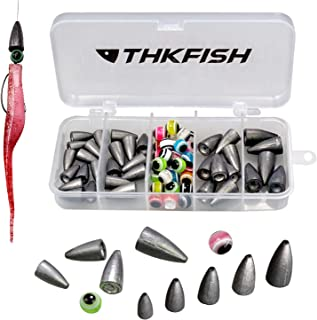 thkfish Fishing Weights Sinkers Fishing Beads Bullet Sinkers Carolina Rig Texas Rig Kit Fishing Accessories Kit 64pcs/219pcs
