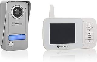 Visiophone Smartwares VD38W – Écran 3,5 pouces – Portée 120 m – Installation avec ou sans fil