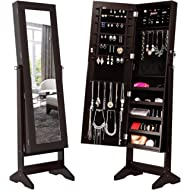 LANGRIA Lockable Jewelry Cabinet Jewelry Armoire with Mirror Jewelry Holder Organizer Storage, 4...