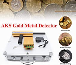 SHZICMY Gold Metal Detector, AKS Detective Handheld 3D Metal Gold Gems Detector 800m Long Range Detecting Machine Diamond Finder Detecting Depth 14M Sensitive Machine (US Stock)