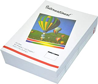 FIS International Exercise Books Plain, 160 Pages, Pack of 10 Pieces, A4 Size - FSEBA4PINT80