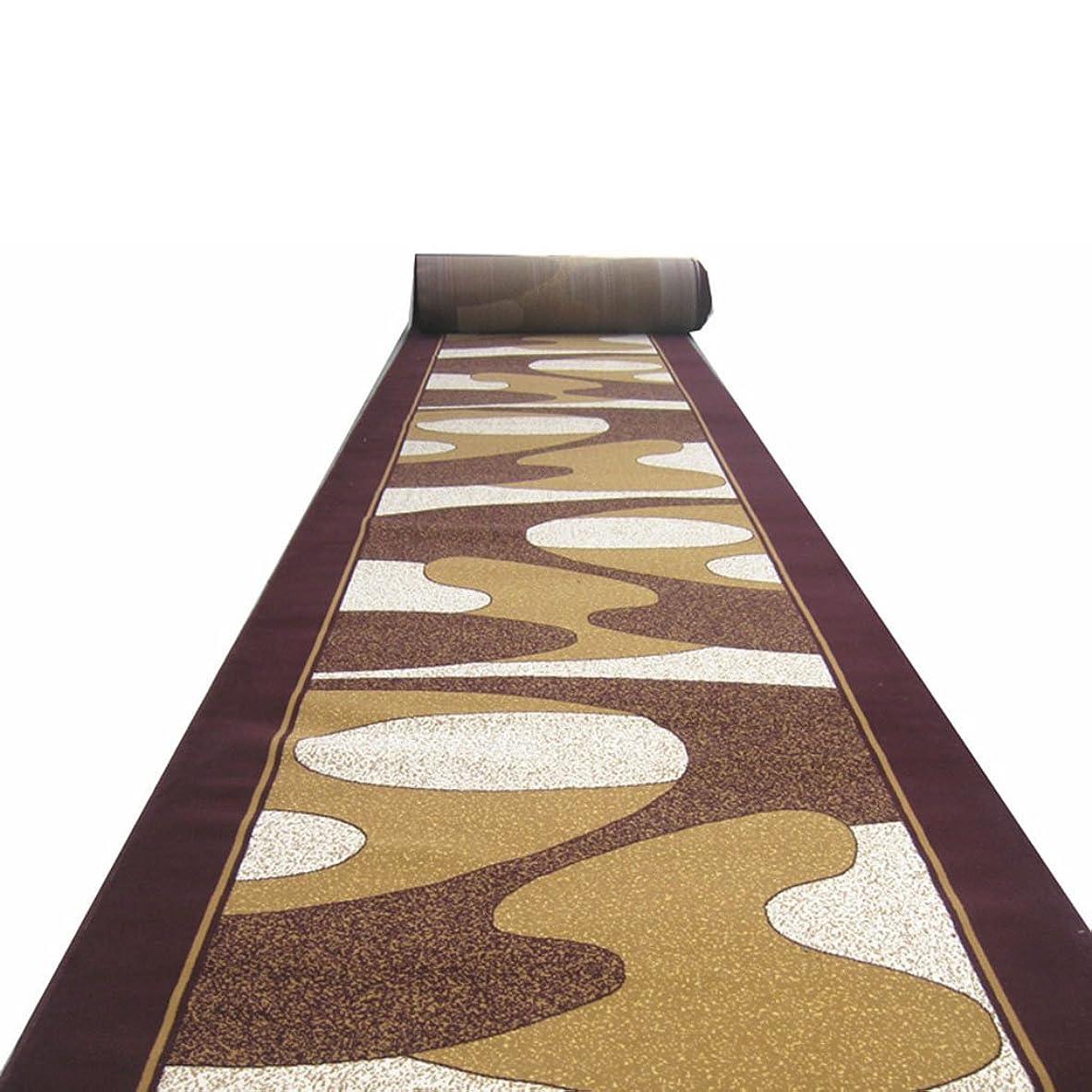 支配するクスクス建てるヨーロッパの滑り止めロングカーペット廊下ランナー階段ランナーホテル通路ランナーホームポーチドアマット寝室リビングルームフルカーペット (Color : BROWN, Size : 1*5M)