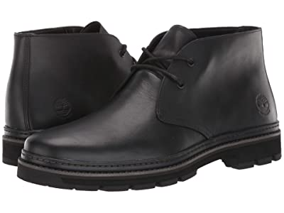 Timberland Port Union Waterproof Chukka (Black Full-Grain) Men